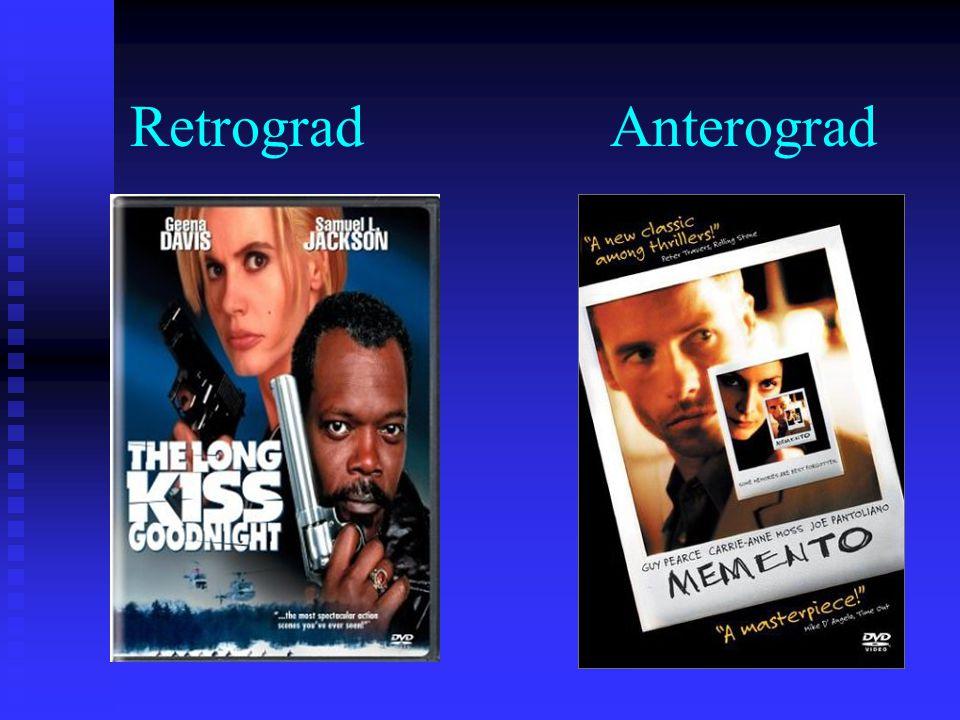 Retrograd Anterograd