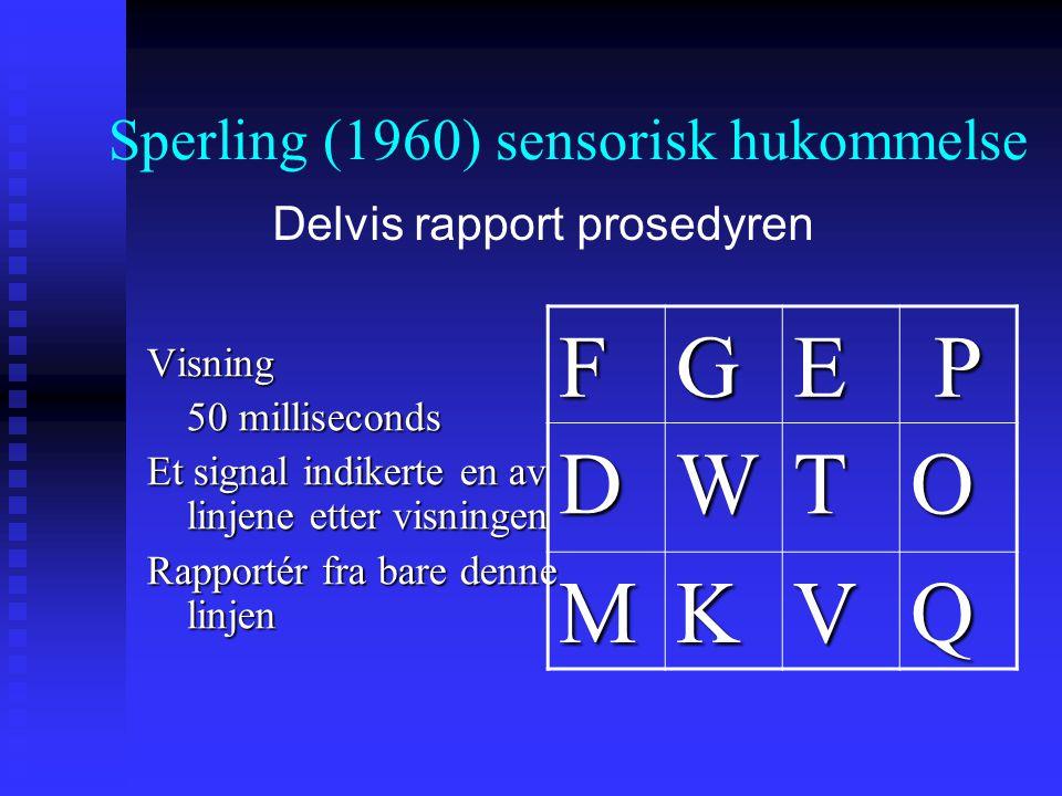 Visning 50 milliseconds Et signal indikerte en av linjene etter visningen Rapportér fra bare denne linjen FGEP DWTO MKVQ Delvis rapport prosedyren Spe