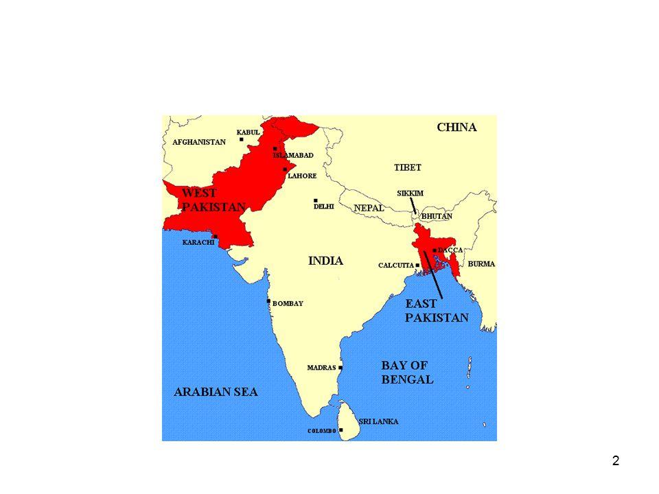 3 Nasjonalkongressen 1885 (etter 1947 Kongresspartiet) – i økende grad hindu- dominert Den Muslimske Liga 1906 – mindre organisasjon, motvekt mot Kongressen Jinnah og to-nasjonsteorien: Muslimene utgjør én nasjon