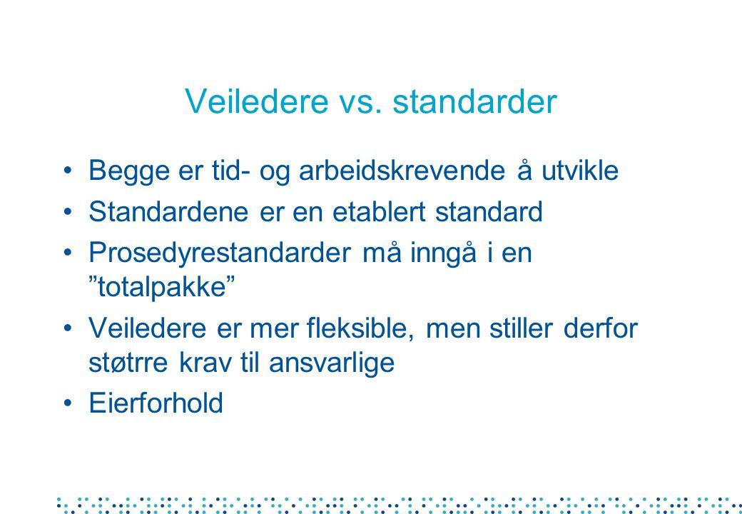 Veiledere vs.