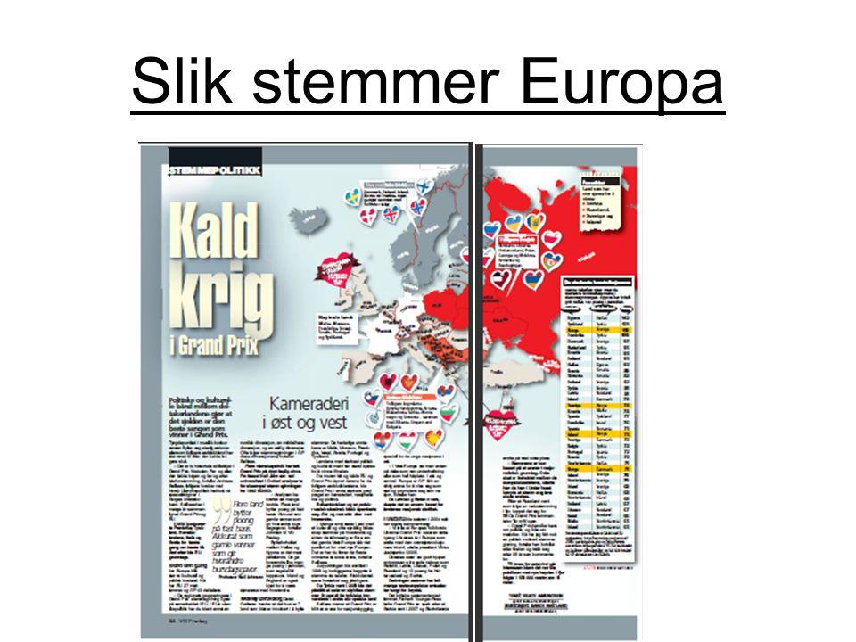 Slik stemmer Europa