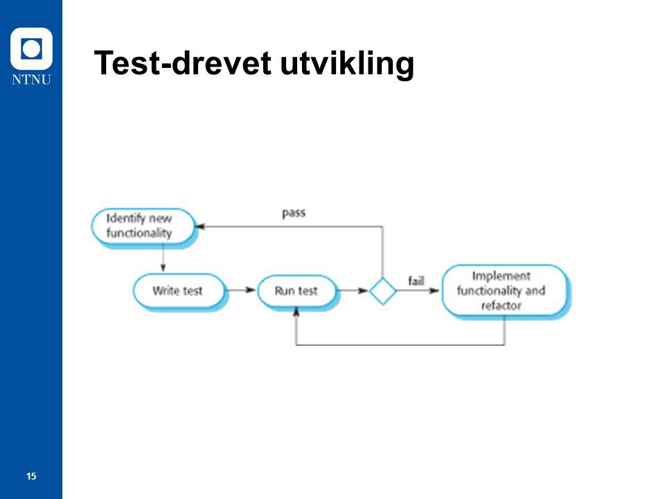 15 Test-drevet utvikling