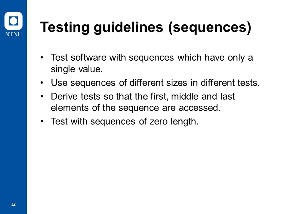 33 Component testing Software components are often composite components that are made up of several interacting objects.