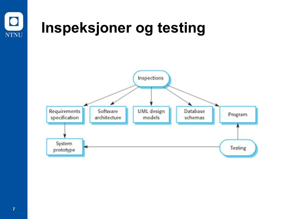 7 Inspeksjoner og testing