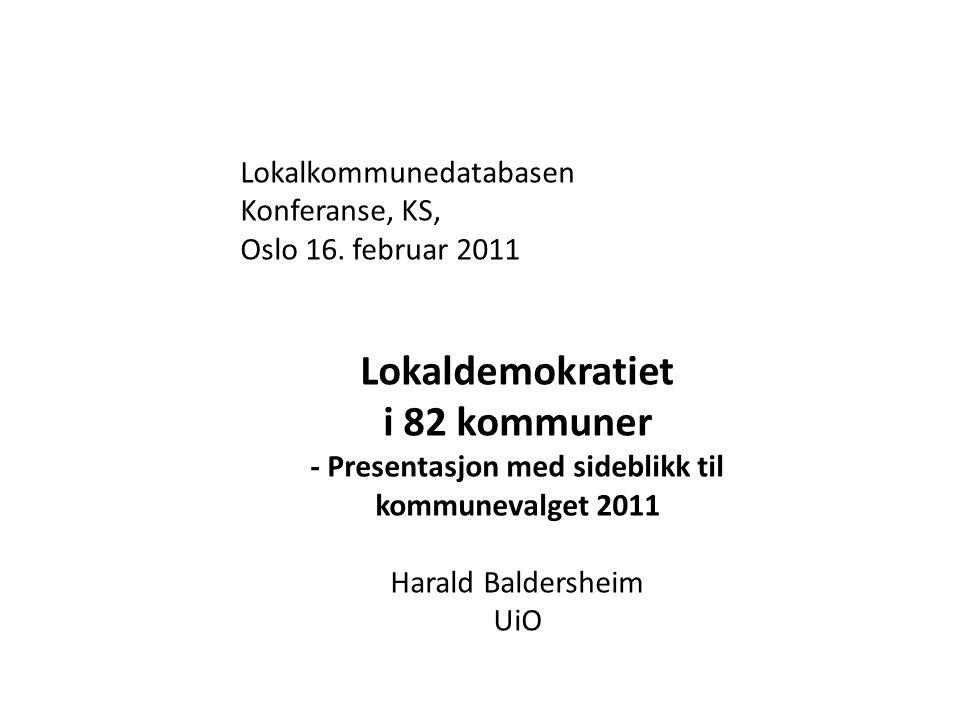 Hvordan står det til med lokaldemokratiet i norske kommuner.
