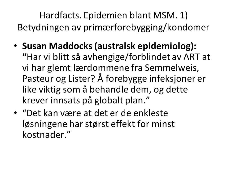 Hardfacts. Epidemien blant MSM.