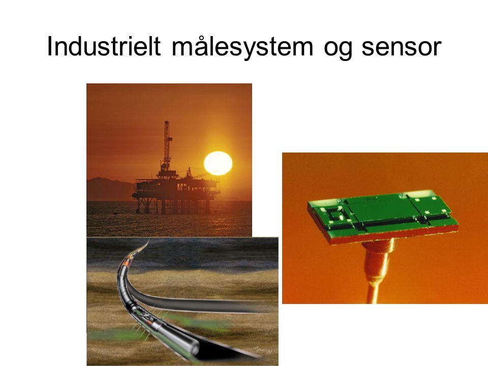 Industrielt målesystem og sensor