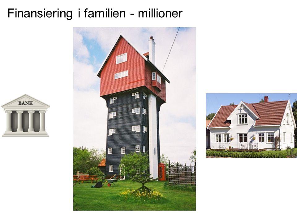 Finansiering i familien - millioner