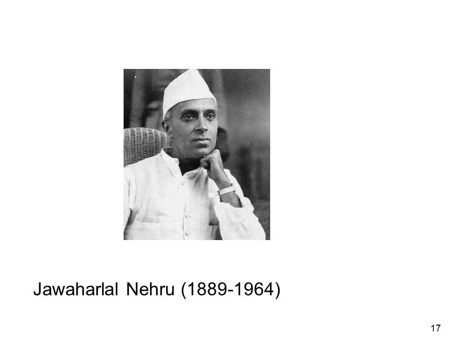 17 Jawaharlal Nehru (1889-1964)