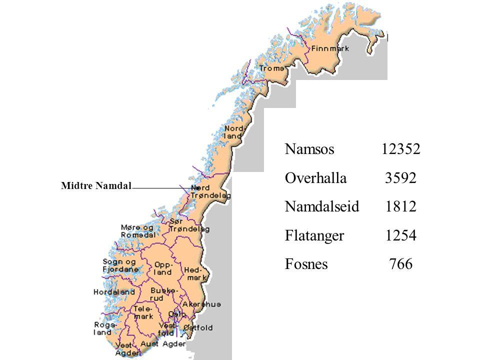 Trondheim 29.01.03 MIDTRE NAMDAL REGIONRÅD FLATANGER, FOSNES, NAMDALSEID, NAMSOS, OVERHALLA Alle områder vurdert og behandlet i regionrådet før sommeren 2003, innstilling til KST (PS.
