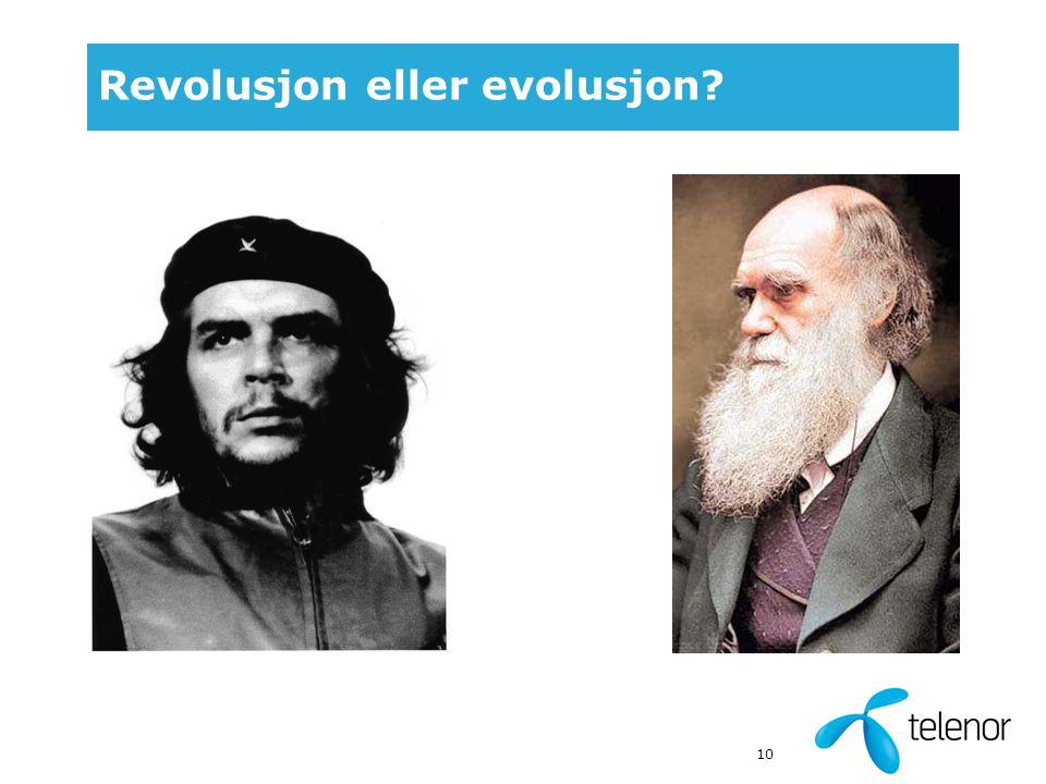 10 Revolusjon eller evolusjon