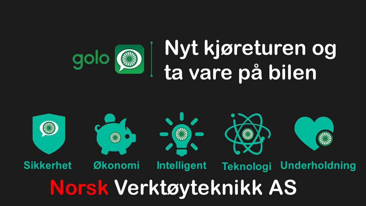 SikkerhetØkonomiIntelligent Teknologi Underholdning Nyt kjøreturen og ta vare på bilen Norsk Verktøyteknikk AS