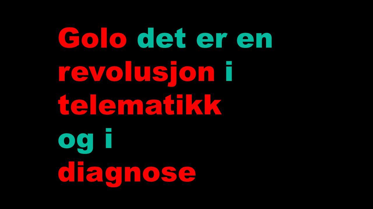 Golo det er en revolusjon i telematikk og i diagnose