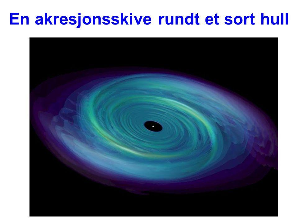 AST1010 - Universet30 En akresjonsskive rundt et sort hull