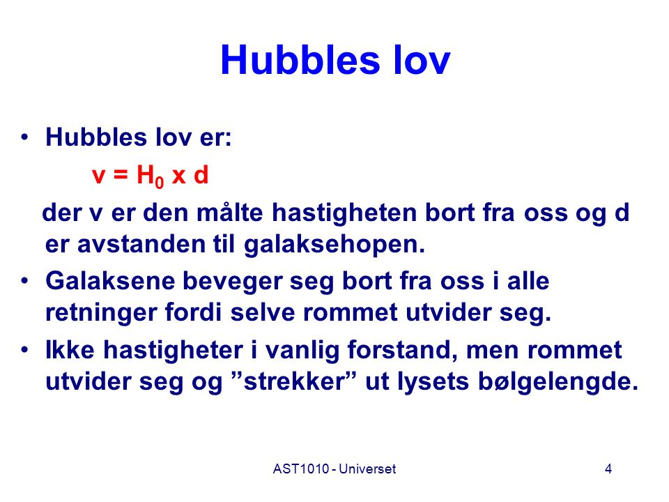 AST1010 - Universet45