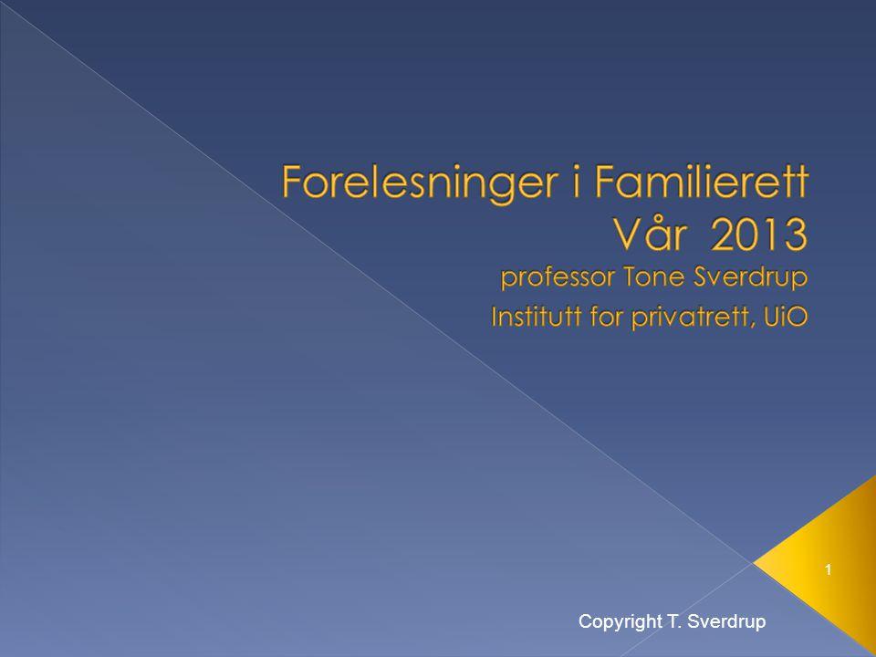 1 Copyright T. Sverdrup