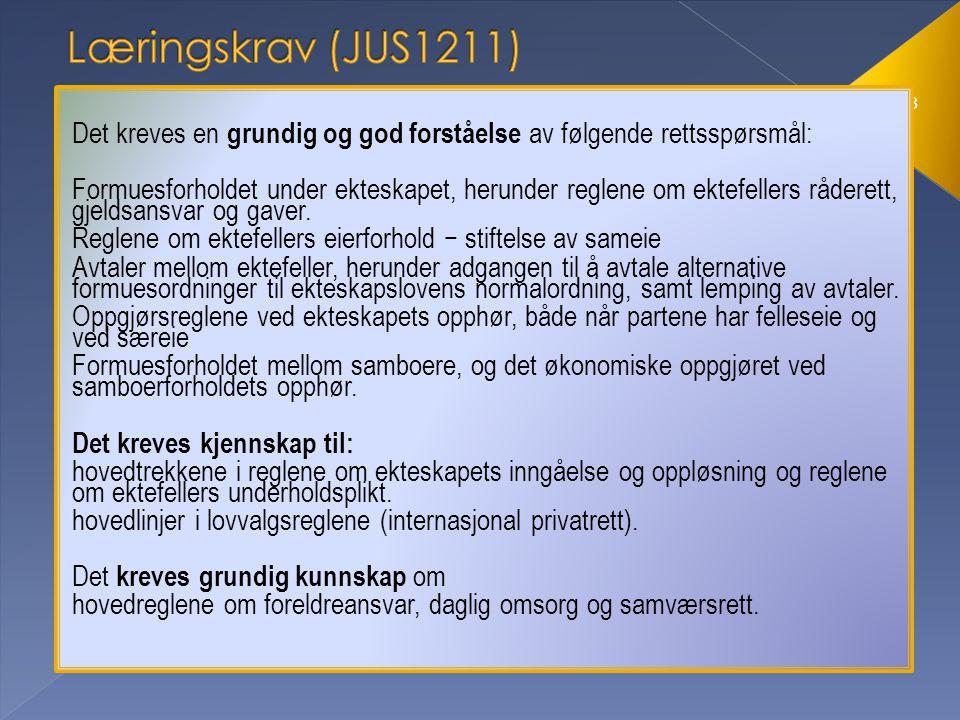 Rådighet Gjeldsansvar Eierforhold Familierettsboken §§ 10, 11 og 12