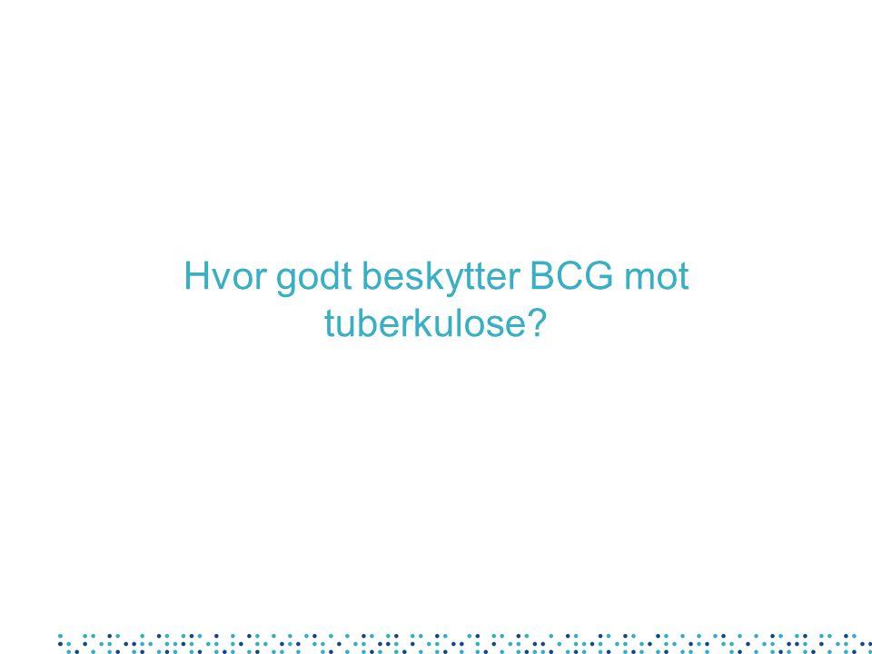 Hvor godt beskytter BCG mot tuberkulose?