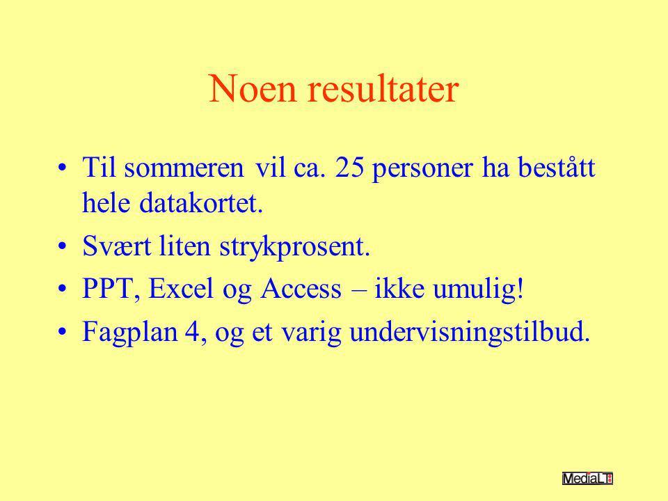 EU-prosjekt ECDL-PD Bredere målgruppe, alle funksjonshemmede Mange tilsvarende aktiviteter som i det norske prosjektet.