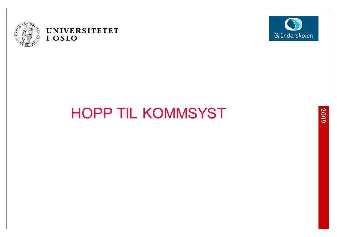 2009 HOPP TIL KOMMSYST