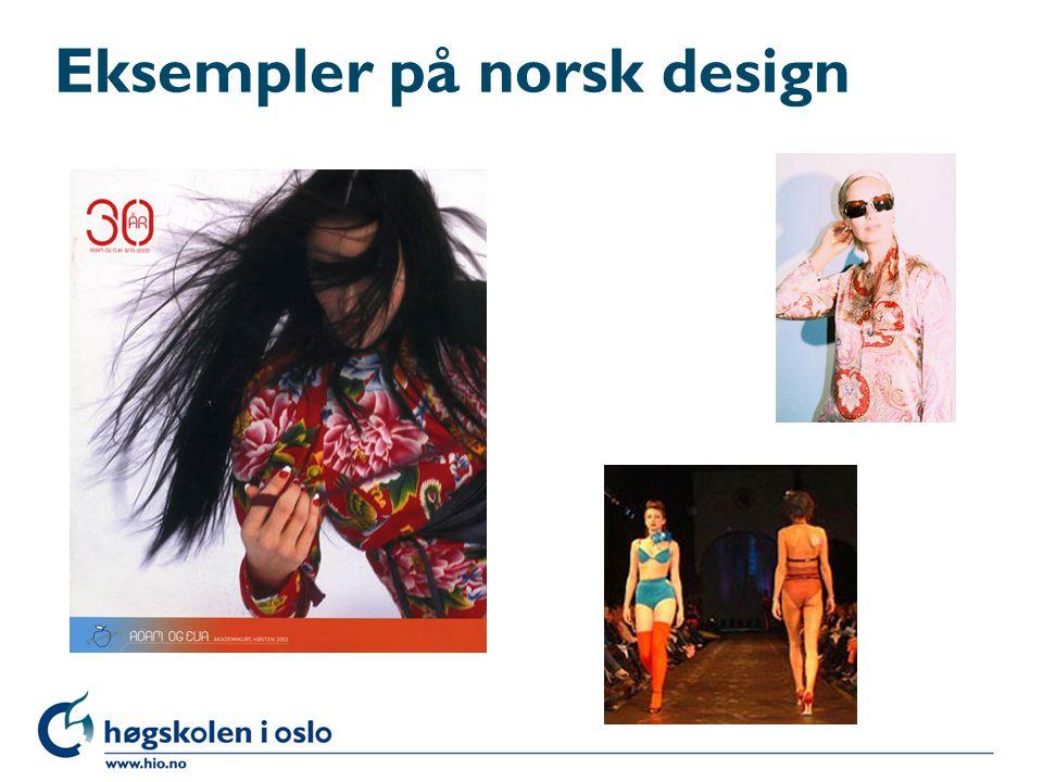 Eksempler på norsk design