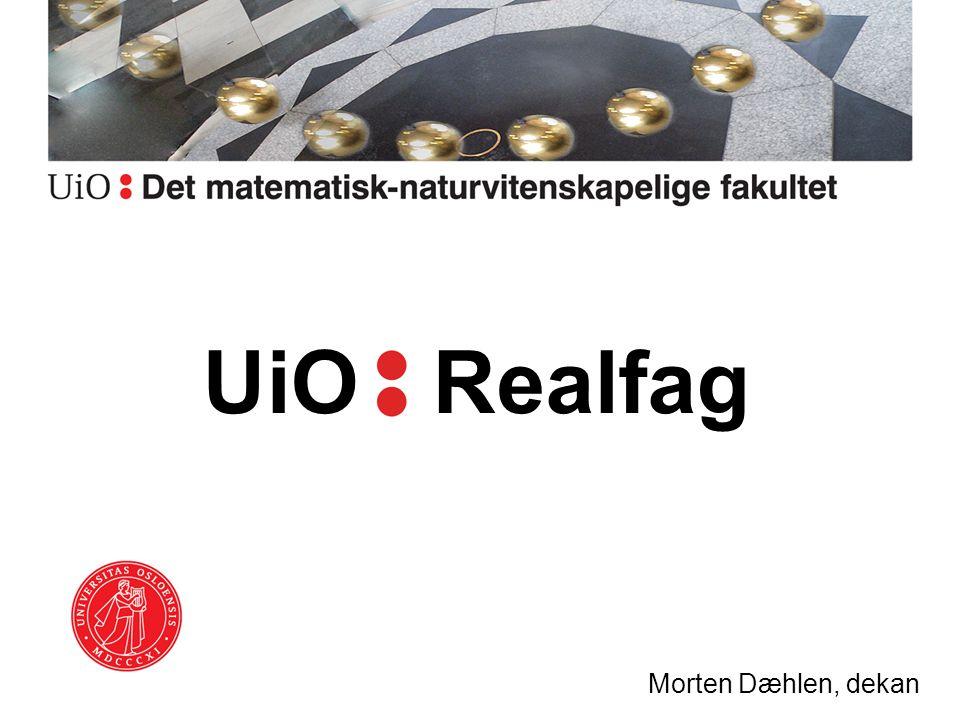 UiO Realfag Morten Dæhlen, dekan
