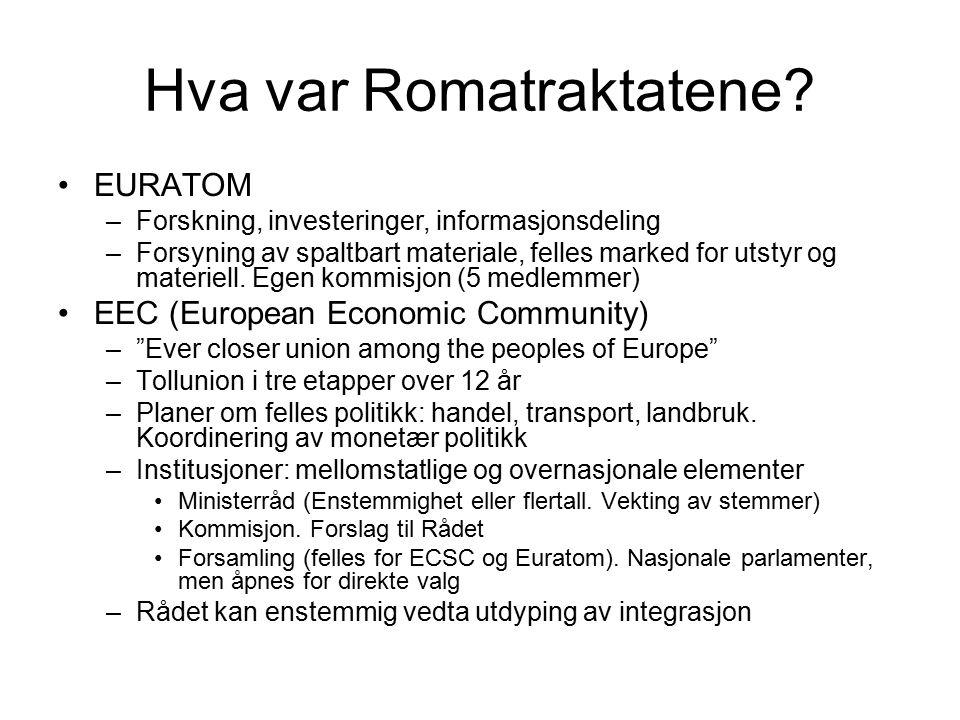 Hva var Romatraktatene.