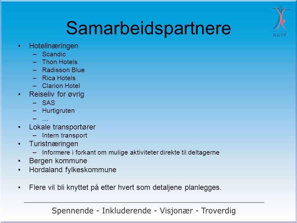 Samarbeidspartnere Hotellnæringen –Scandic –Thon Hotels –Radisson Blue –Rica Hotels –Clarion Hotel Reiseliv for øvrig –SAS –Hurtigruten –… Lokale tran
