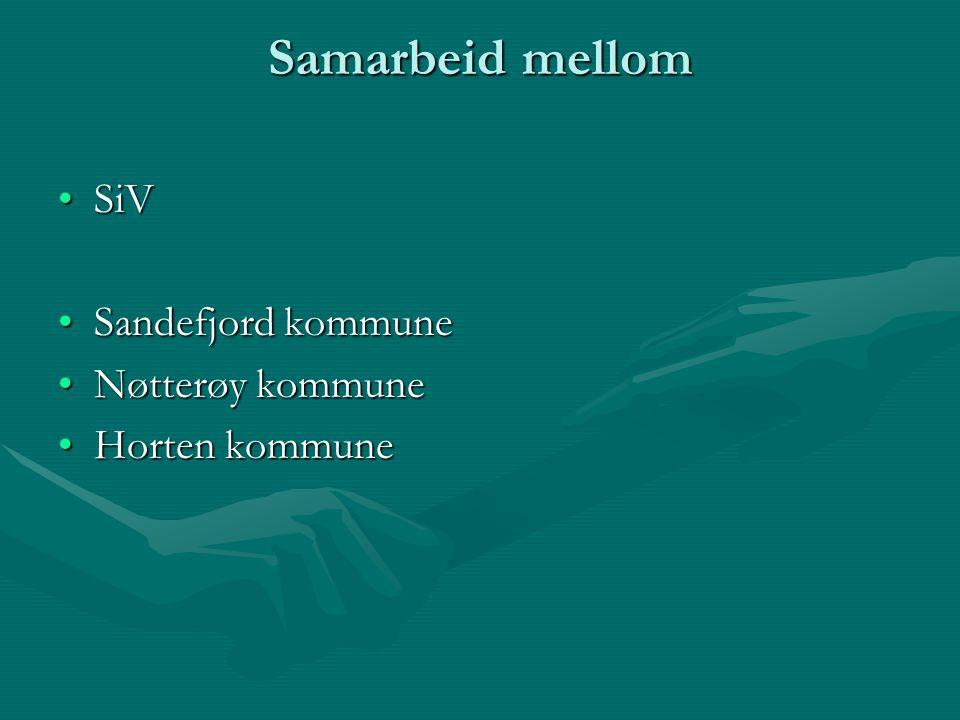 Samarbeid mellom SiVSiV Sandefjord kommuneSandefjord kommune Nøtterøy kommuneNøtterøy kommune Horten kommuneHorten kommune