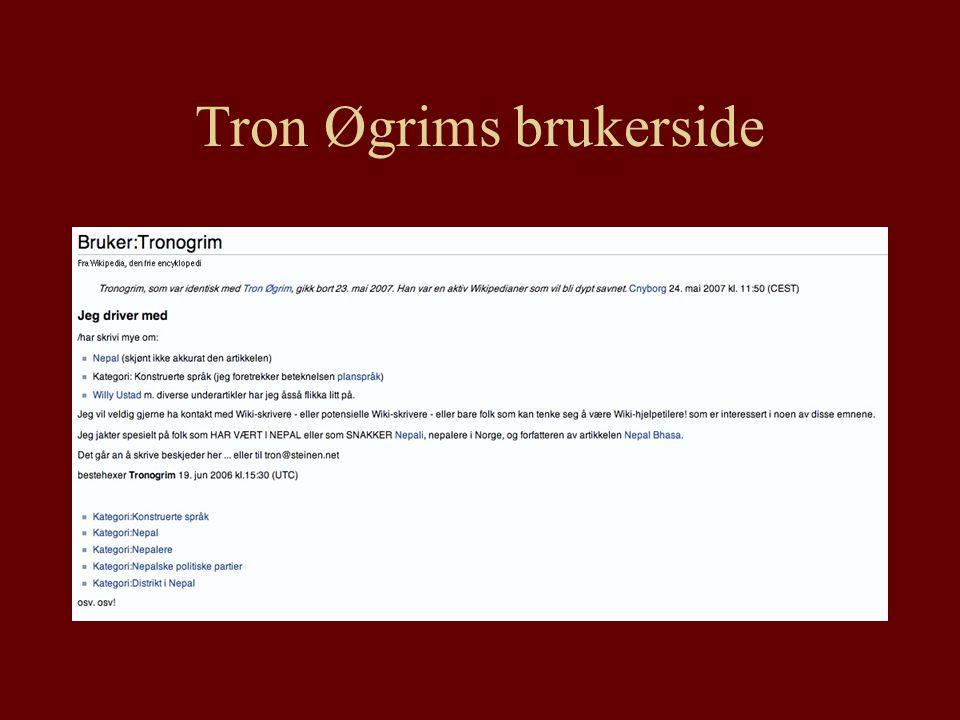 Tron Øgrims brukerside
