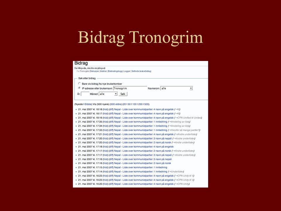 Bidrag Tronogrim