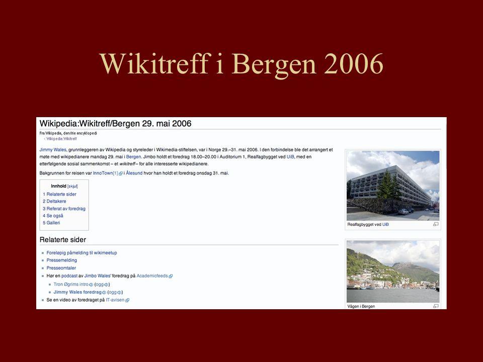 Wikitreff i Bergen 2006
