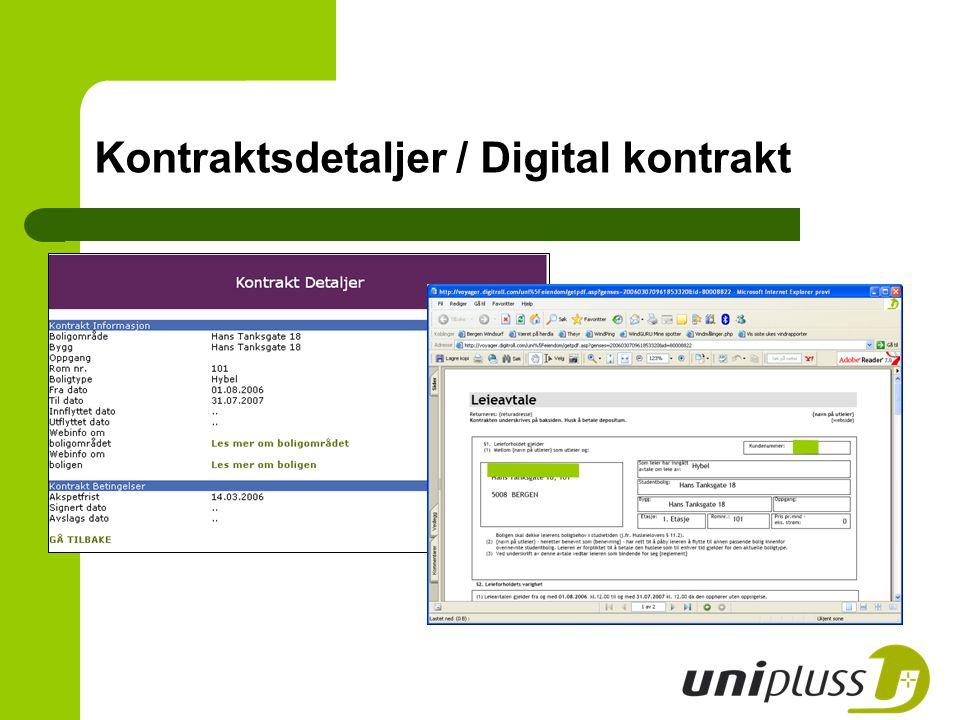 Kontraktsdetaljer / Digital kontrakt