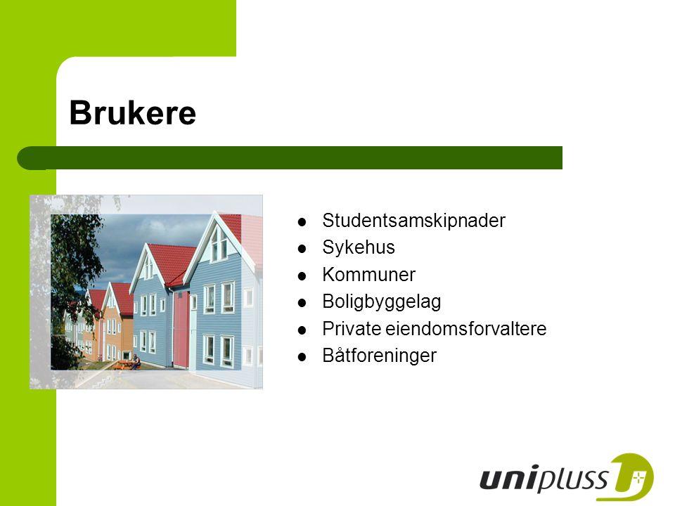 Brukere Studentsamskipnader Sykehus Kommuner Boligbyggelag Private eiendomsforvaltere Båtforeninger