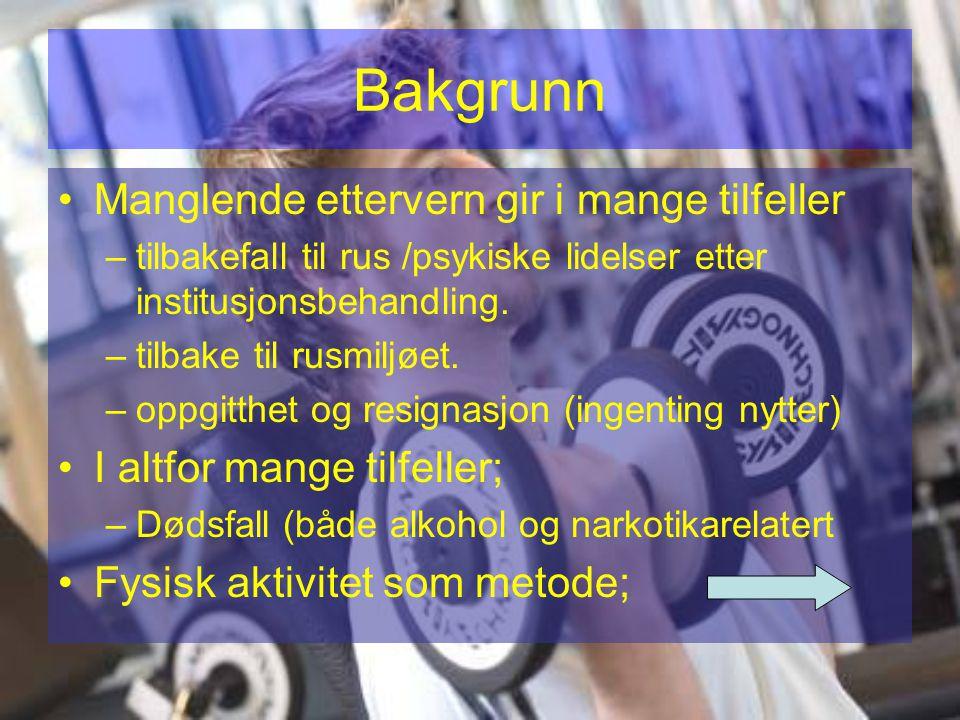 Type aktiviteter % Ulike gruppetreninger78.4 Gå-turer50 Helsestudio47.2 Jogging44.4 Fjell-turer30.6 Sykling19.4 Klatring19.4 Ski11.4 Sirkel-trening11.1 Kajakk11.1 Svømming5.6 Ulike ballspill5.7 Annet6.3