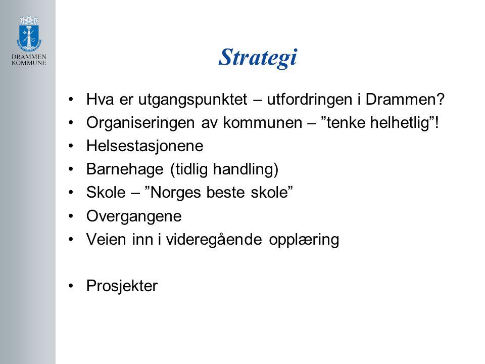 Strategi Hva er utgangspunktet – utfordringen i Drammen.