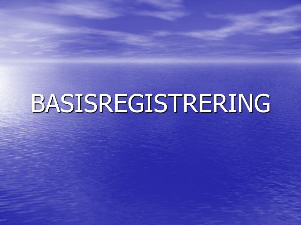 BASISREGISTRERING
