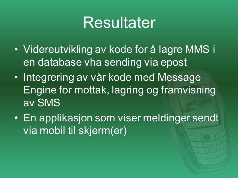 Mulig videre arbeid Videreutvikle sensurmulighetene Sending av MMS fra web