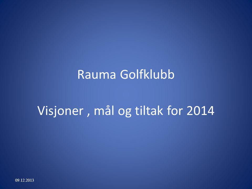 Rauma Golfklubb Visjoner, mål og tiltak for 2014 09.12.2013
