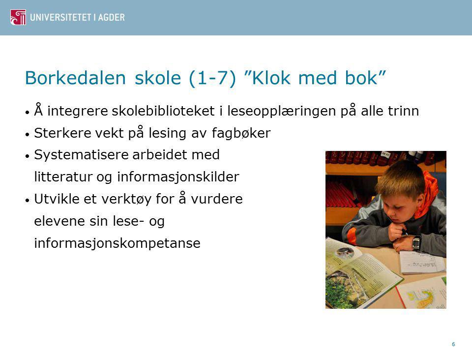 Bibliotek- og informasjonskompetanse - utdrag fra leseplanen ved Borkedalen skole 4.