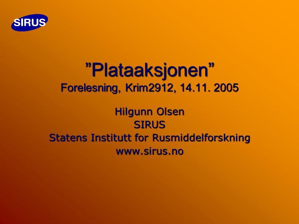 Plataaksjonen Forelesning, Krim2912, 14.11.