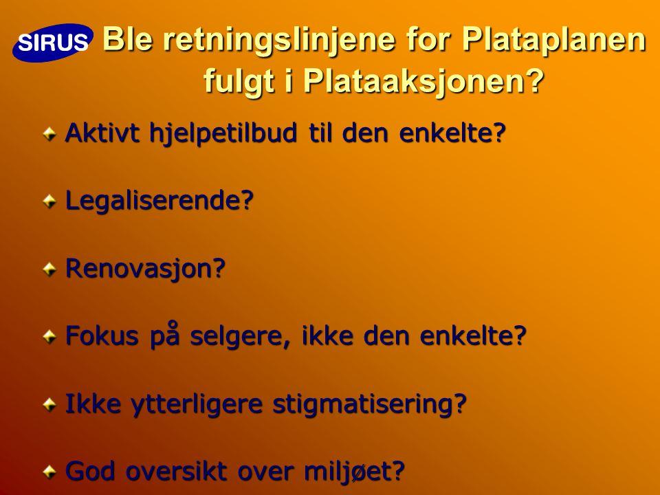 Ble retningslinjene for Plataplanen fulgt i Plataaksjonen.