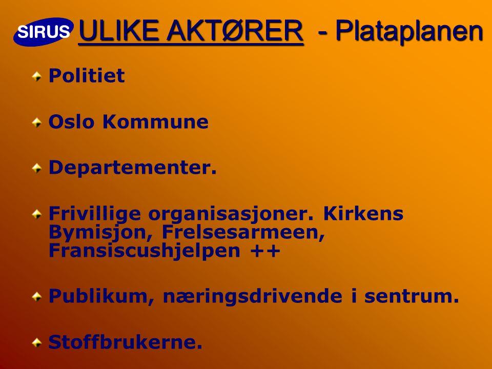 ULIKE AKTØRER - Plataplanen Politiet Oslo Kommune Departementer.