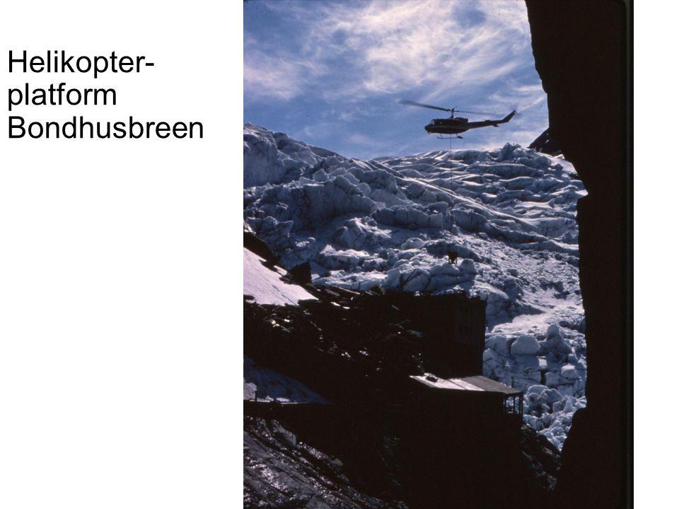 Helikopter- platform Bondhusbreen