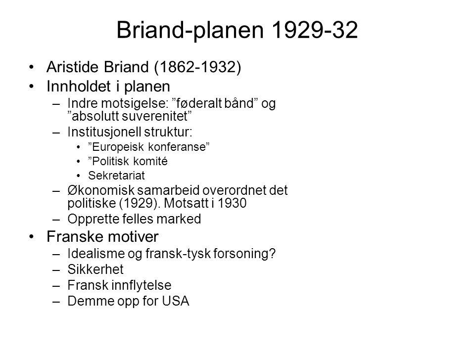 Hvorfor mislyktes Briand-planen.