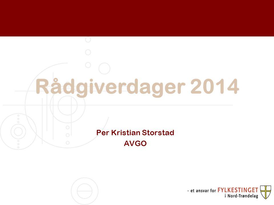 Rådgiverdager 2014 Per Kristian Storstad AVGO