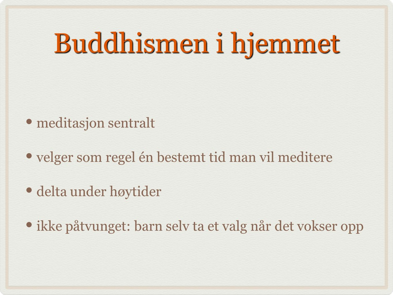 Buddhismen i hjemmet meditasjon sentralt velger som regel én bestemt tid man vil meditere delta under høytider ikke påtvunget: barn selv ta et valg når det vokser opp