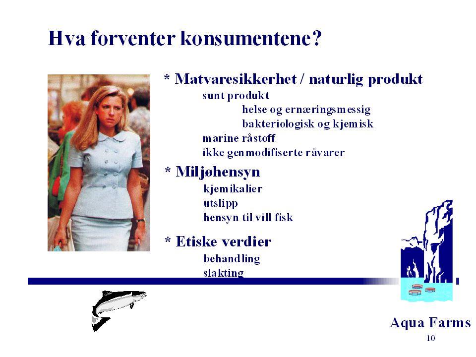 Aqua Farms Anne Grete Kjørrefjord Aqua Farms as BIT-konferanse 1999 Viseadm. direktør