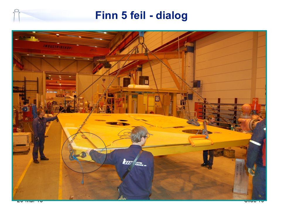 29-Mar-15Slide 19 Finn 5 feil - dialog