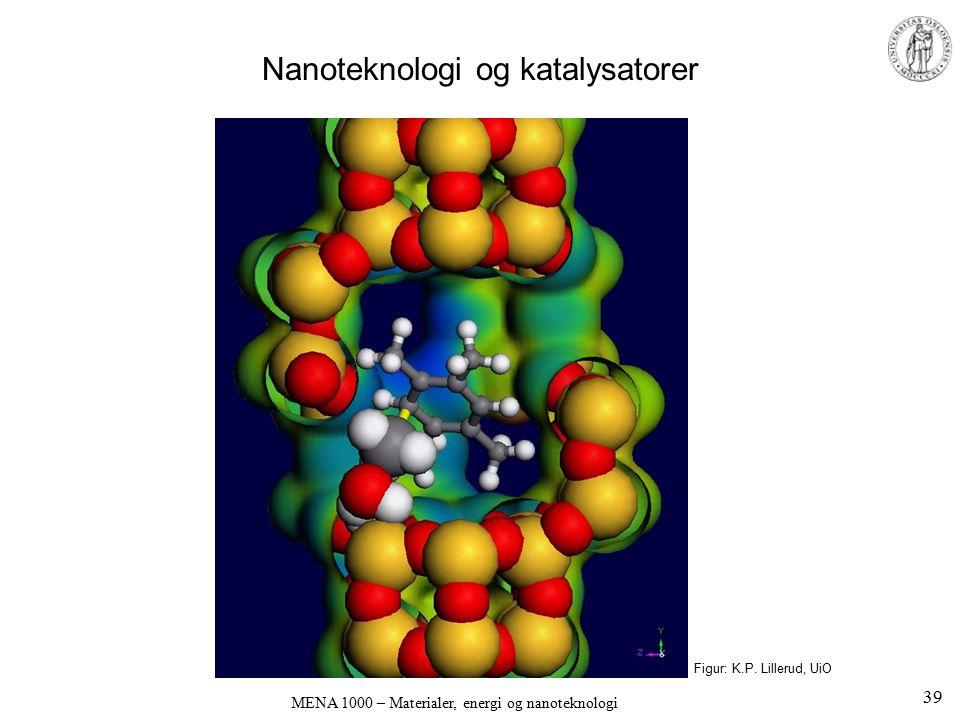 MENA 1000 – Materialer, energi og nanoteknologi Nanoteknologi og katalysatorer Figur: K.P. Lillerud, UiO 39